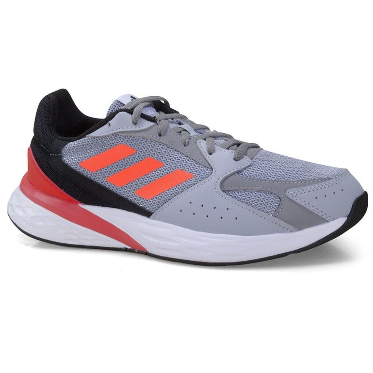 Tênis Masculino Adidas Fy5956 Response Run Cinza/preto/vermelho