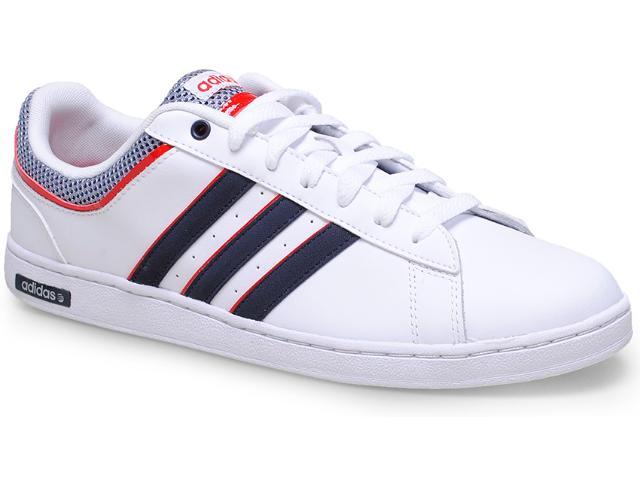 Tênis Masculino Adidas F37934 Neo Derby Set Branco/marinho/vermelho