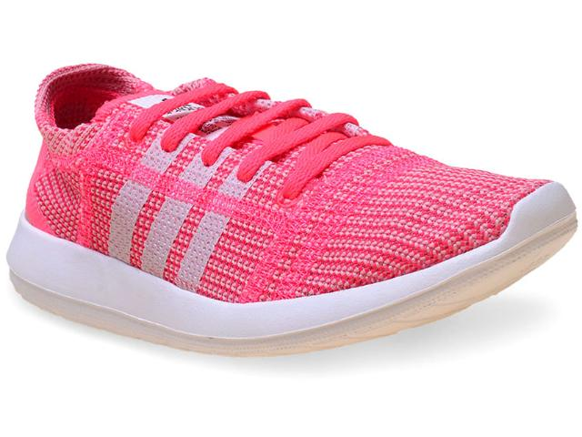 Tênis Feminino Adidas B33357 Element Refine Tricot w Rosa Claro/branco