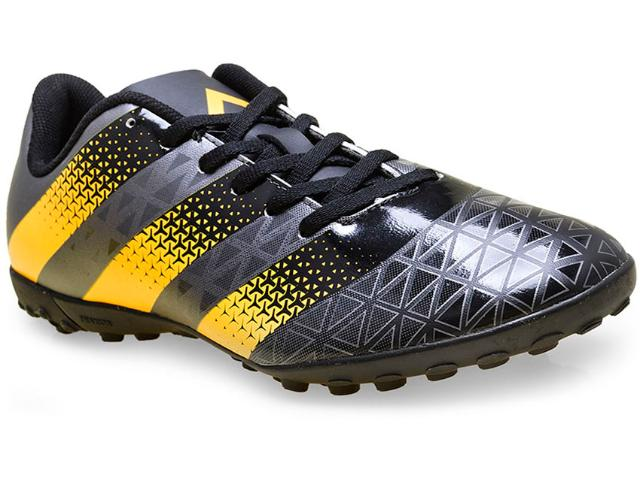 Tênis Masculino Adidas H68290 Artilheira tf Preto/laranja