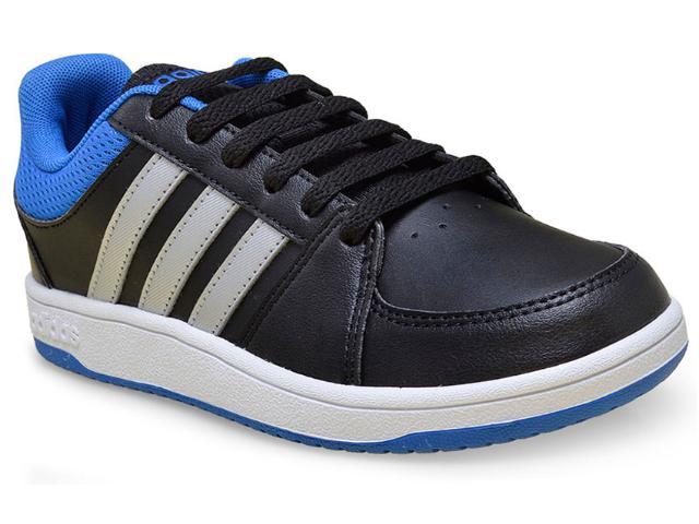 Tênis Masc Infantil Adidas F99197 vs Hoops k Preto/azul