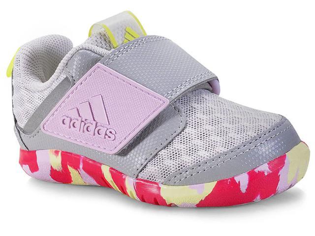 Tênis Fem Infantil Adidas Cp9428 Fortaplay Cool i  Cinza/lilas/limão