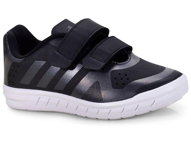 Tênis Masc Infantil Adidas H68568 Quicksport cf 2 c Preto/chumbo