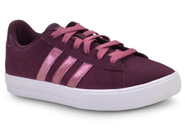 Tênis Feminino Adidas Bb7368 Daily 2.0 Bordo/branco