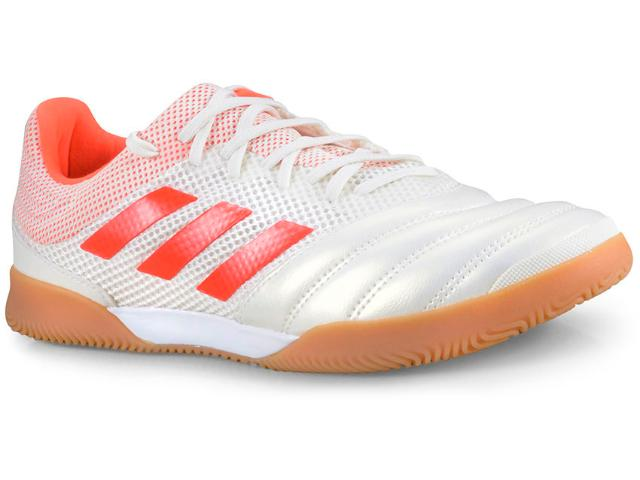 Tênis Masculino Adidas D98065 Copa 19.3 in Sala Off White/laranja