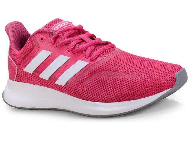 Tênis Feminino Adidas Cl0322 Falcon Pink/branco