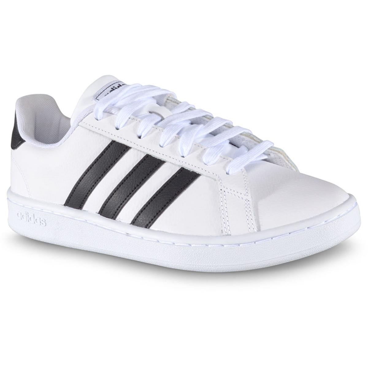 Tênis Masculino Adidas Ew0556 Grand Court  Branco/preto