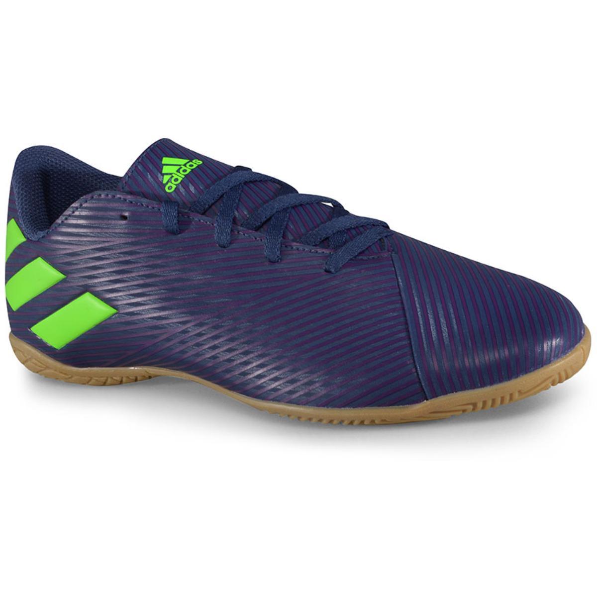 Tênis Masculino Adidas Ef1810 Nmz Messi 19.4 in Marinho/roxo/limão
