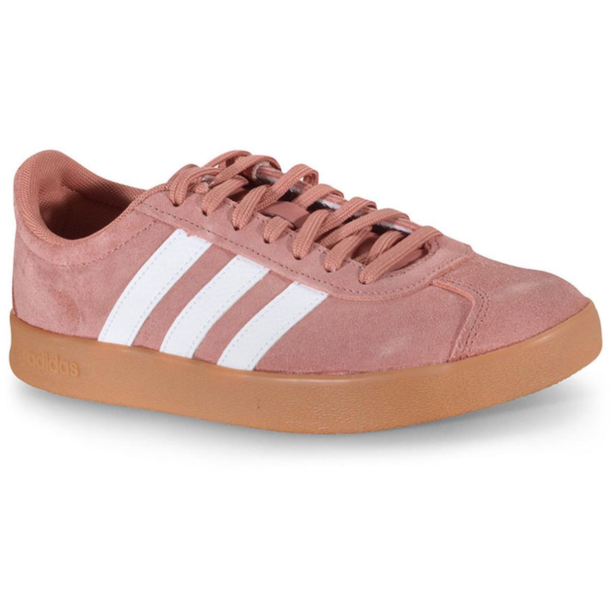 Tênis Feminino Adidas Ee6801 vl Court 2.0 w Rosa Antigo