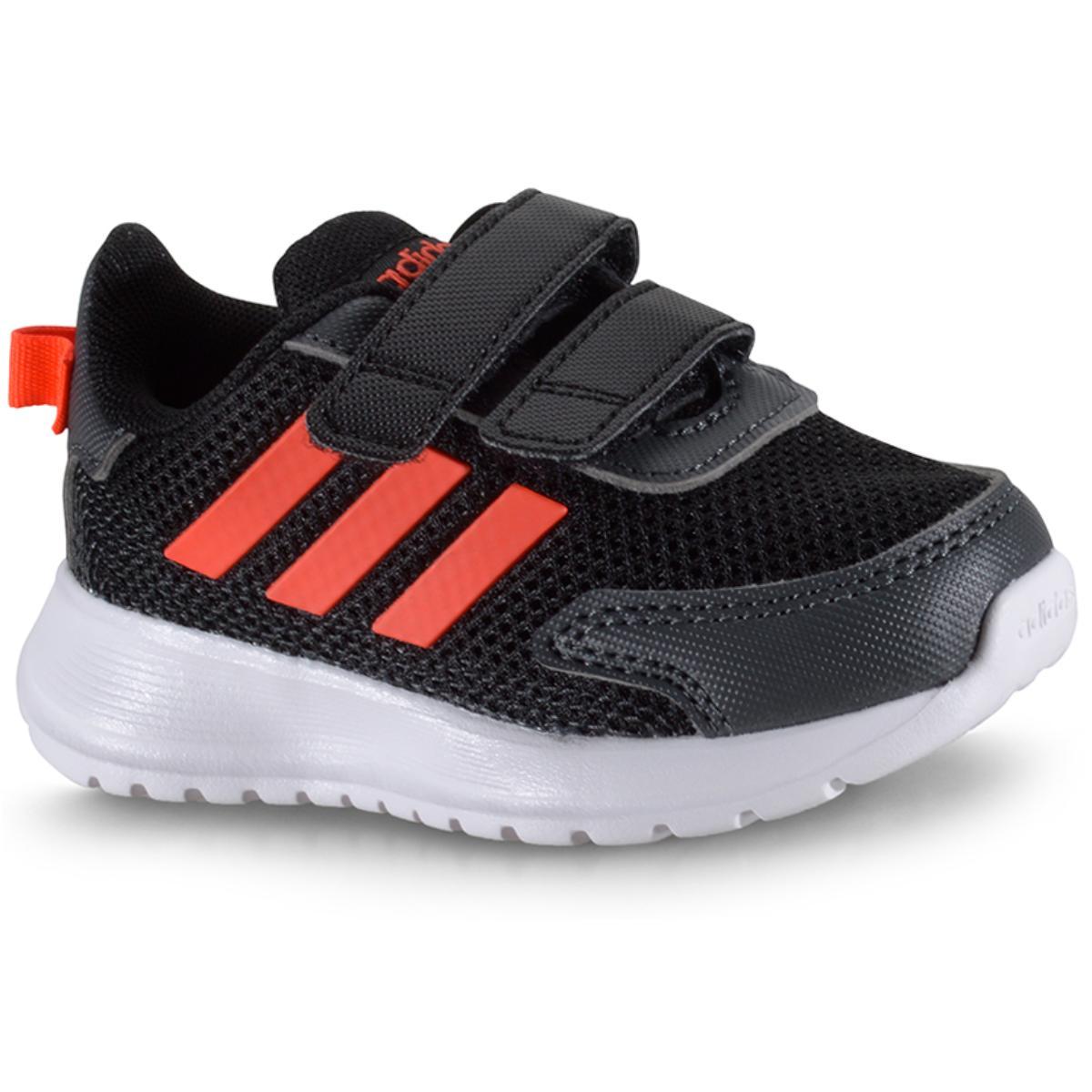 Tênis Uni Infantil Adidas Eg4139 Tensauer Run i Preto/coral