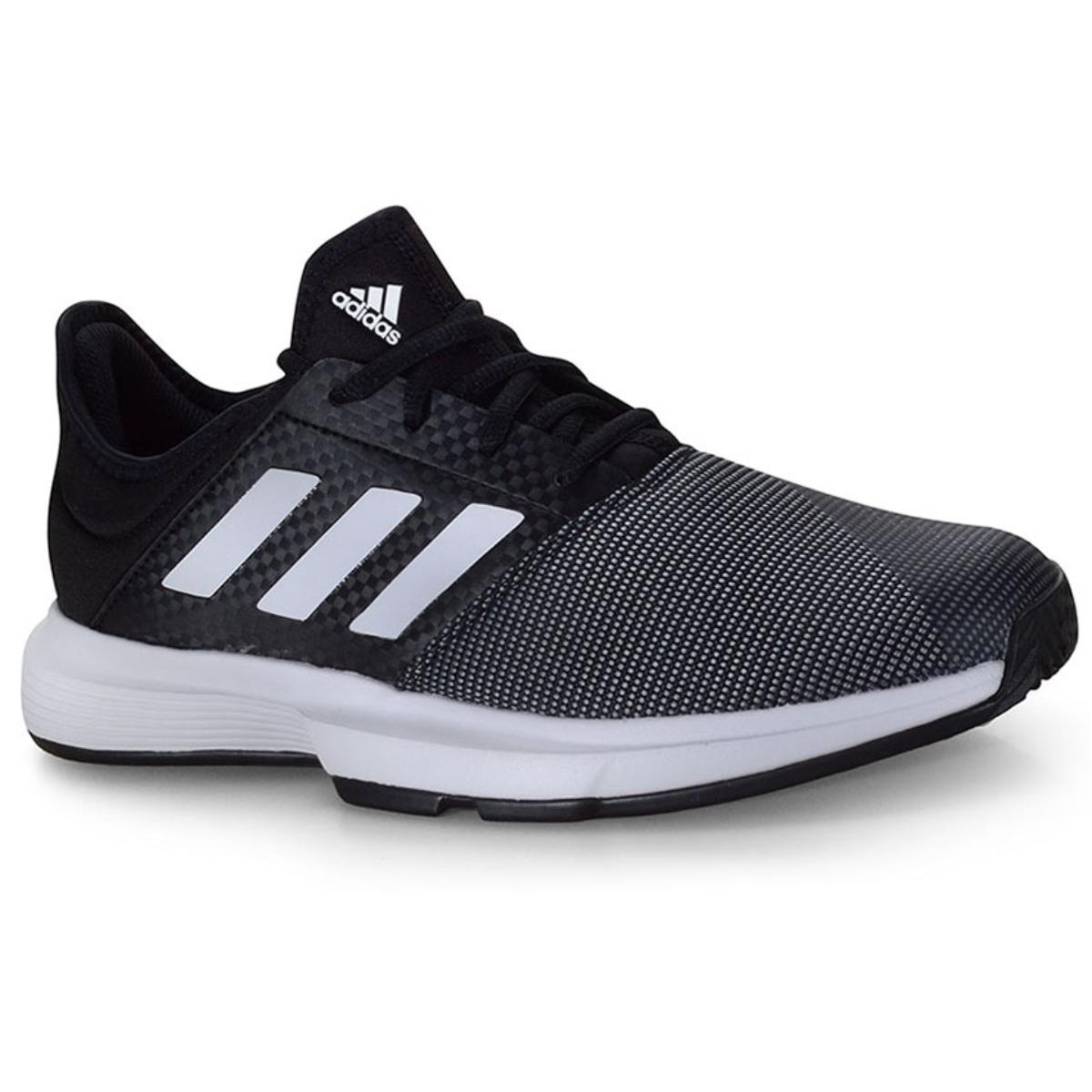 Tênis Masculino Adidas Eg2009 Gamecourt m Preto/branco/cinza