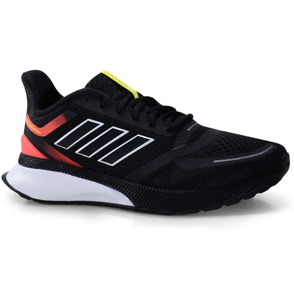 Tênis Masculino Adidas Eg3165 Novafvse m Preto/coral