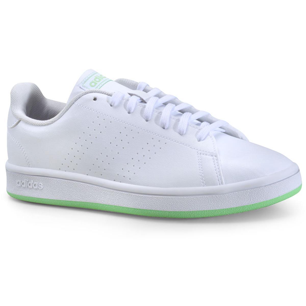 Tênis Feminino Adidas Fw0986 Advantage Base w Branco/verde