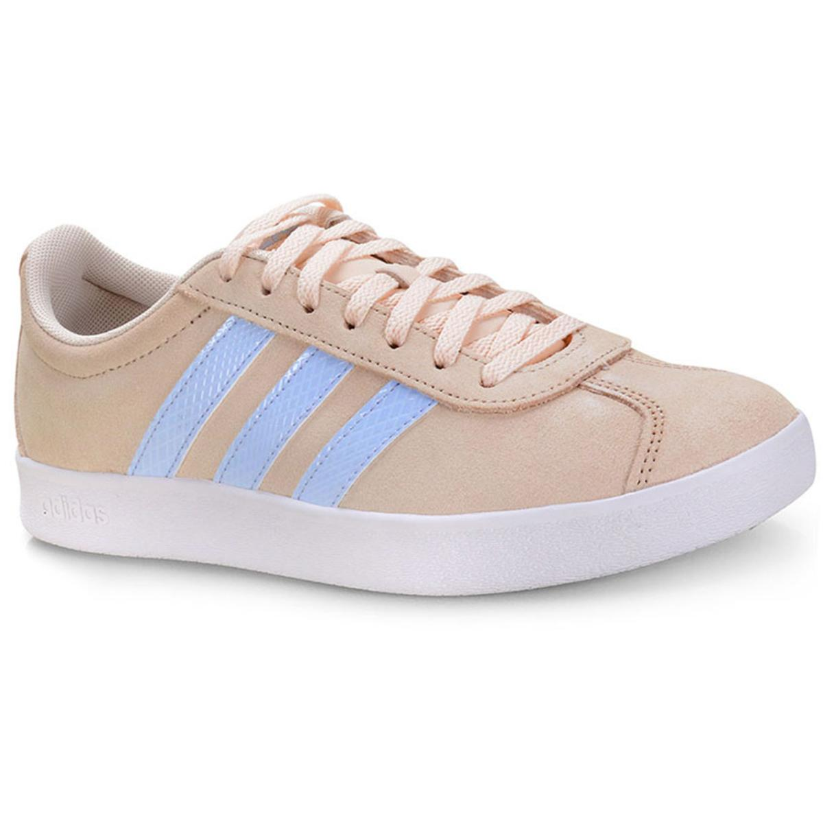 Tênis Feminino Adidas Ee6787 vl Court 20 w Bege/azul