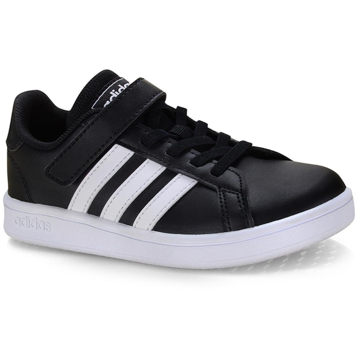 Tênis Uni Infantil Adidas Ef0108 Grand Court c Preto/branco