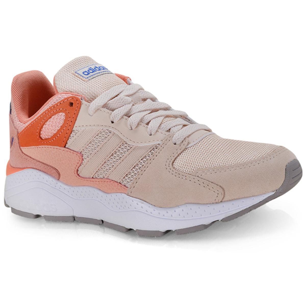 Tênis Feminino Adidas Ef1063 Crazychaos Bege/laranja