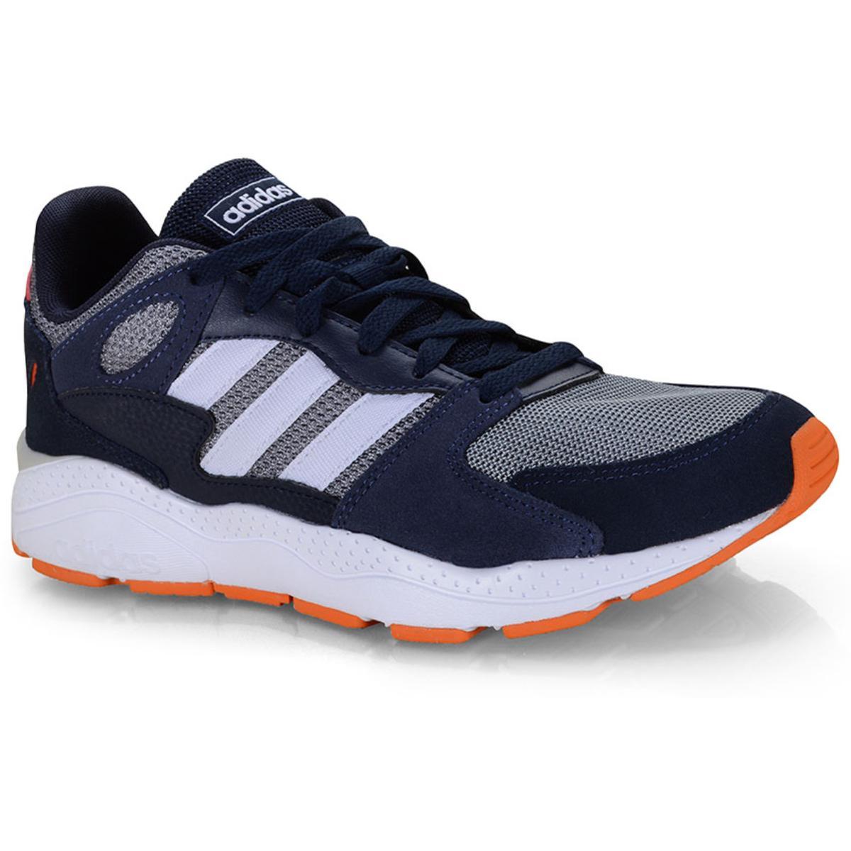 Tênis Masculino Adidas Ef1052 Chaos Marinho/branco/laranja