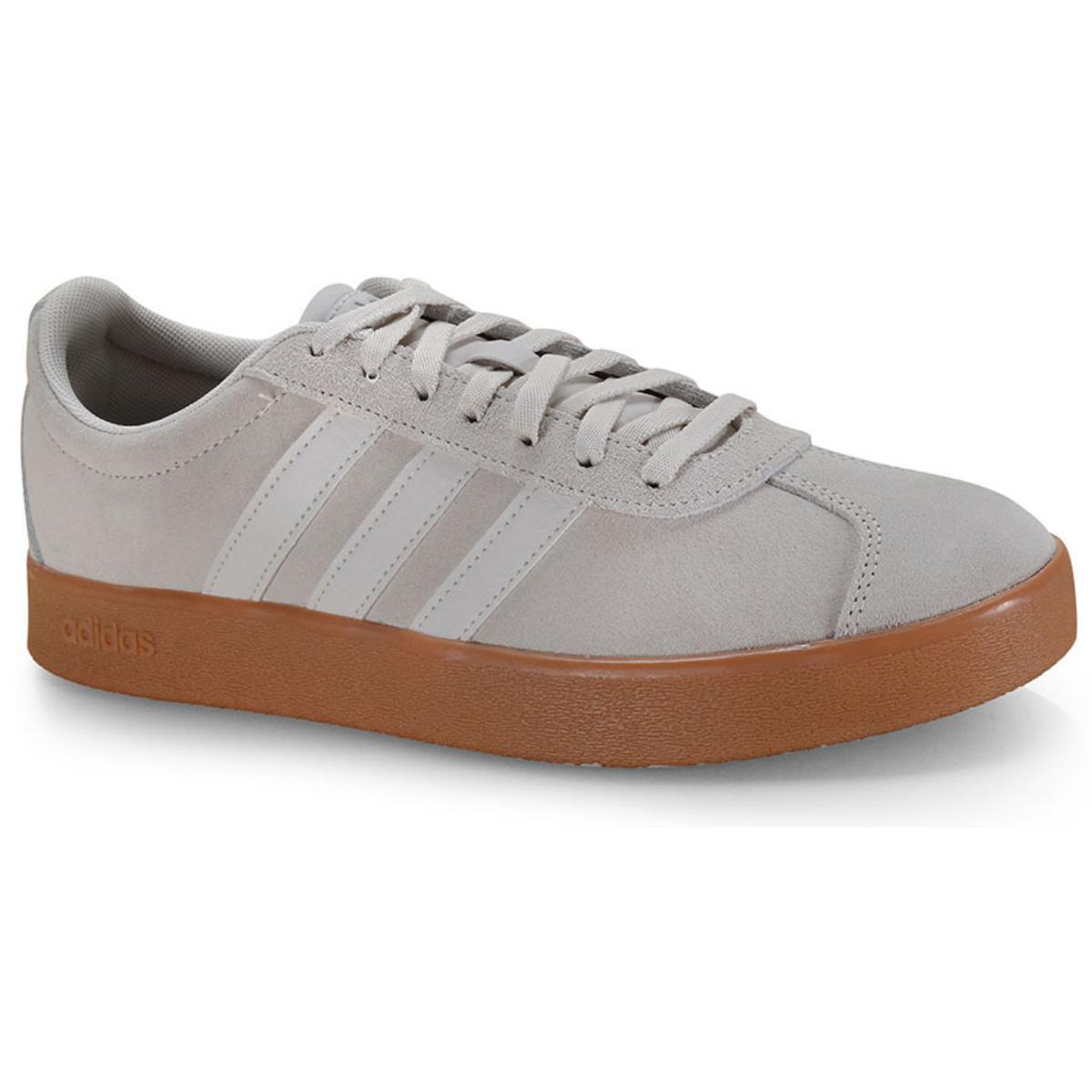 Tênis Masculino Adidas Ee6893 vl Court 20 m Bege/branco
