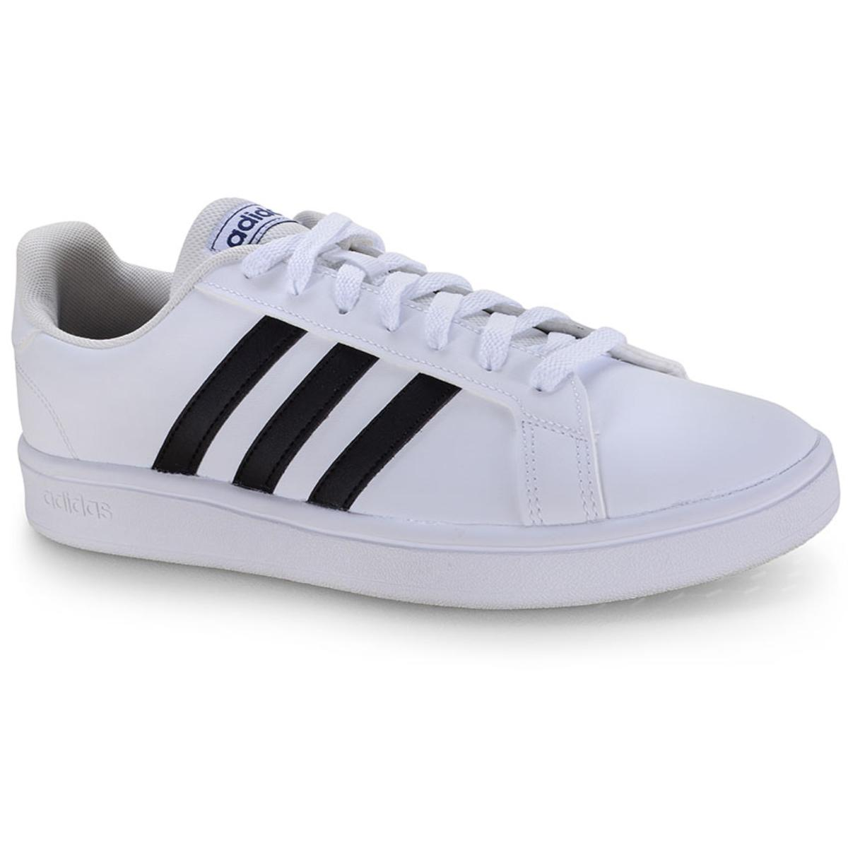 Tênis Masculino Adidas Ee7904 Grand Court Base m Branco/preto