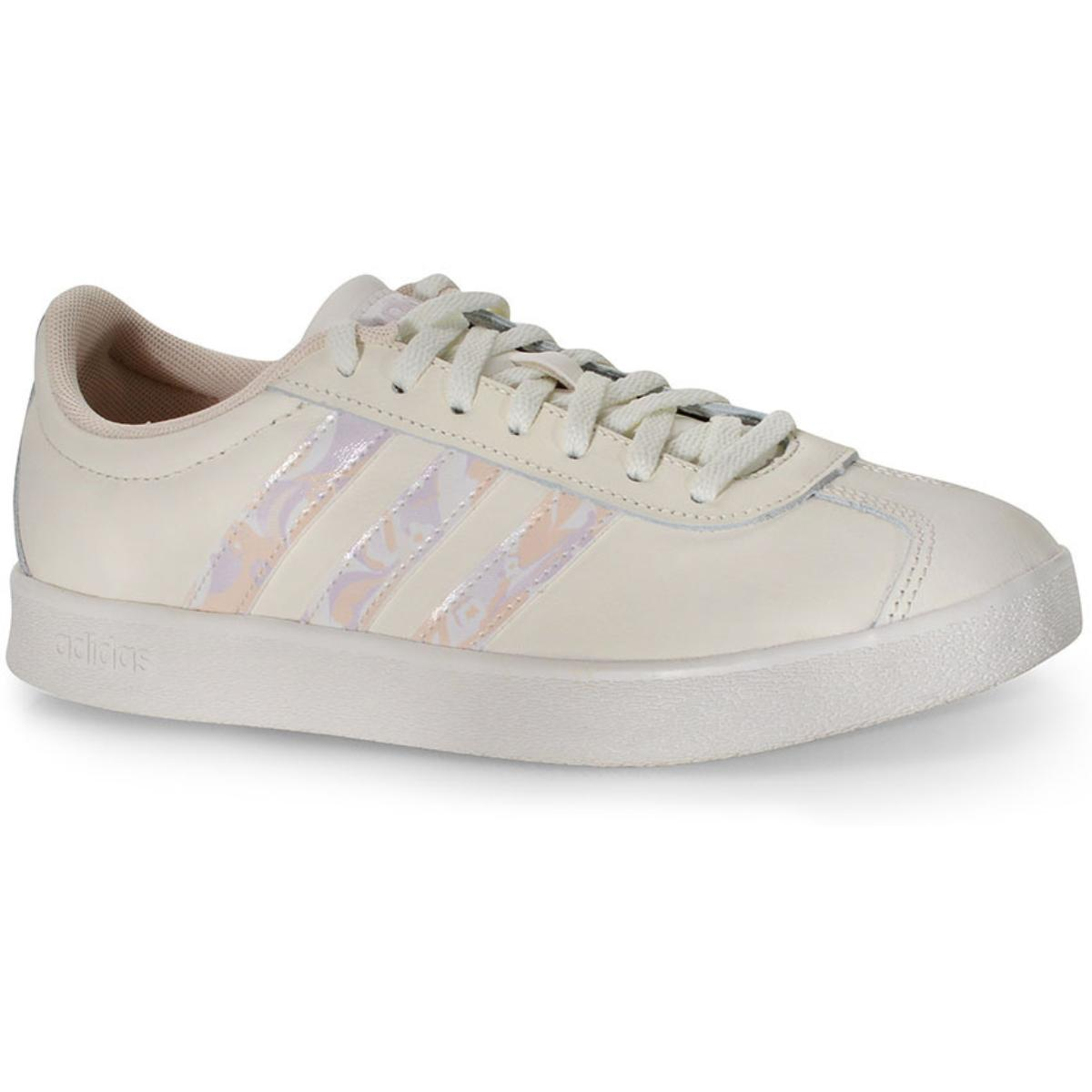 Tênis Feminino Adidas Ef0021 vl Court 2.0 w Off White