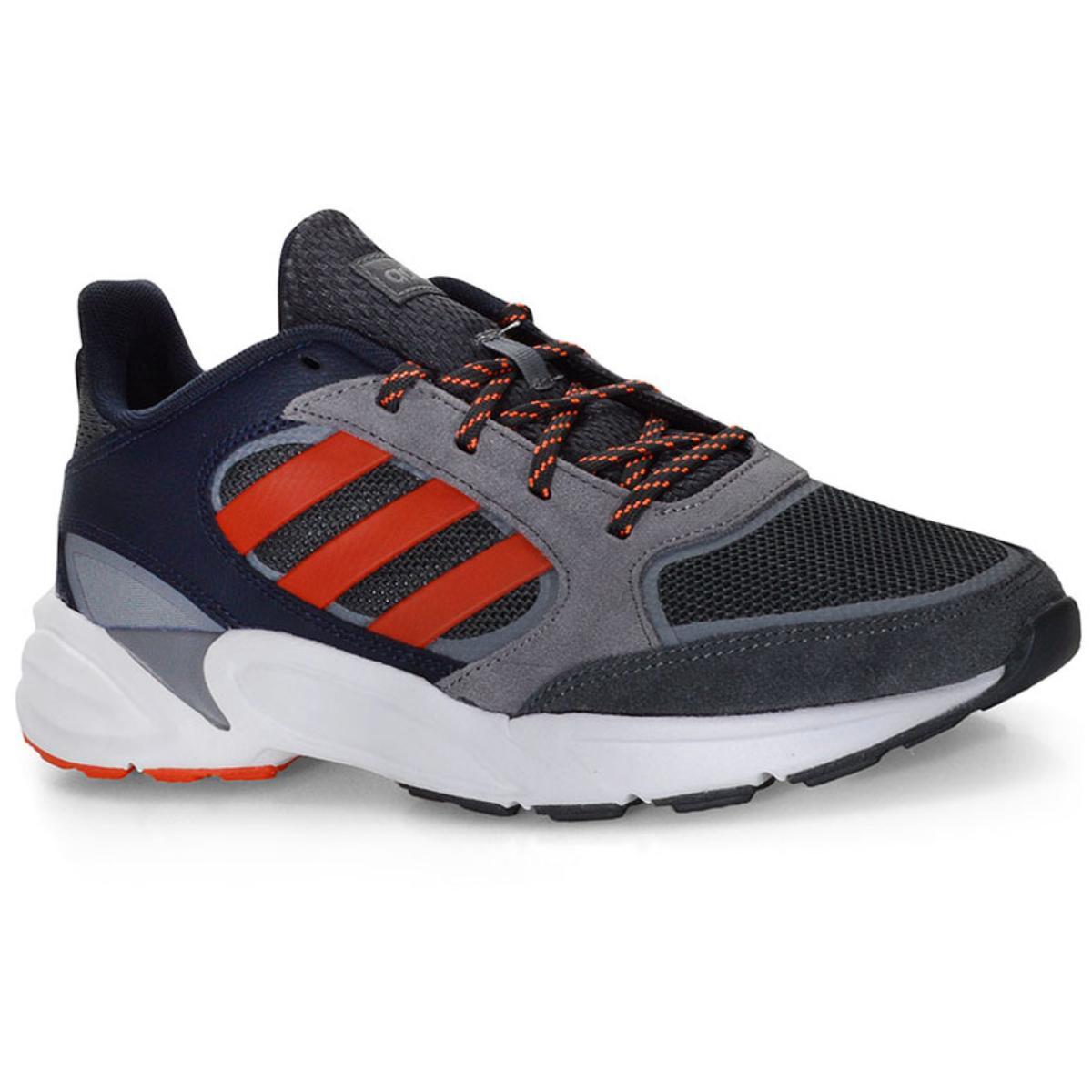 Tênis Masculino Adidas Ee9894 90s Valasion m Cinza/vermelho