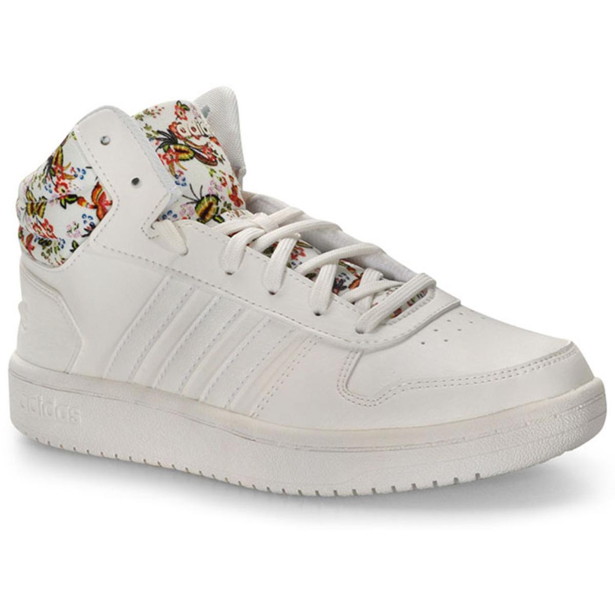 Tênis Feminino Adidas Ef0120 Hoops Farm Mid 20w Branco
