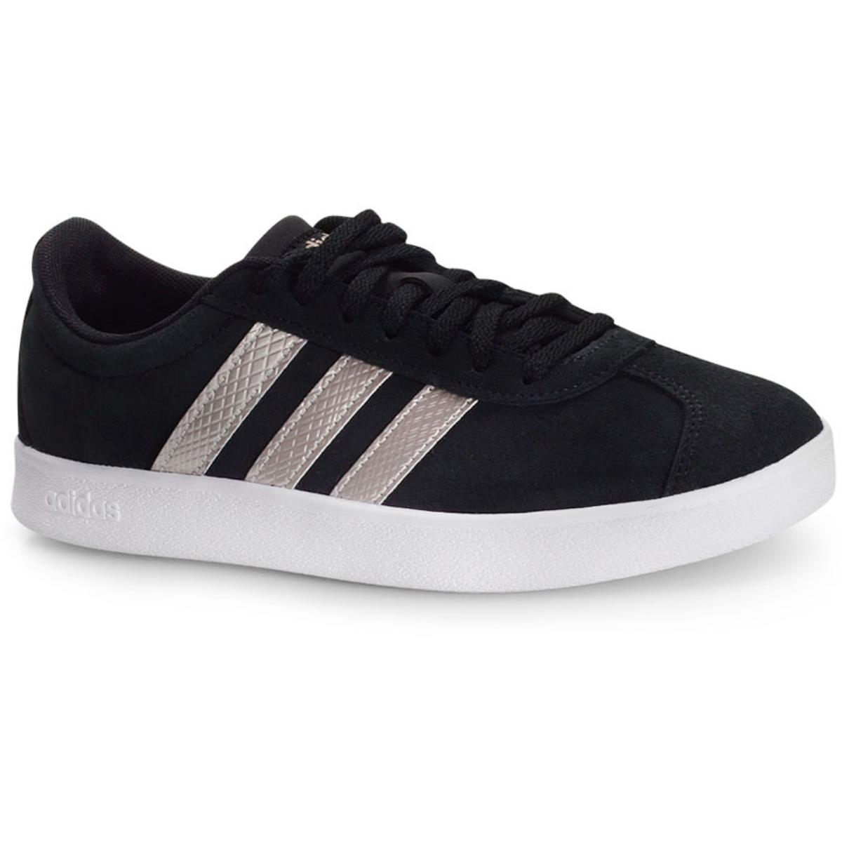 Tênis Feminino Adidas Ee6784 vl Court 2.0 w Preto/prata
