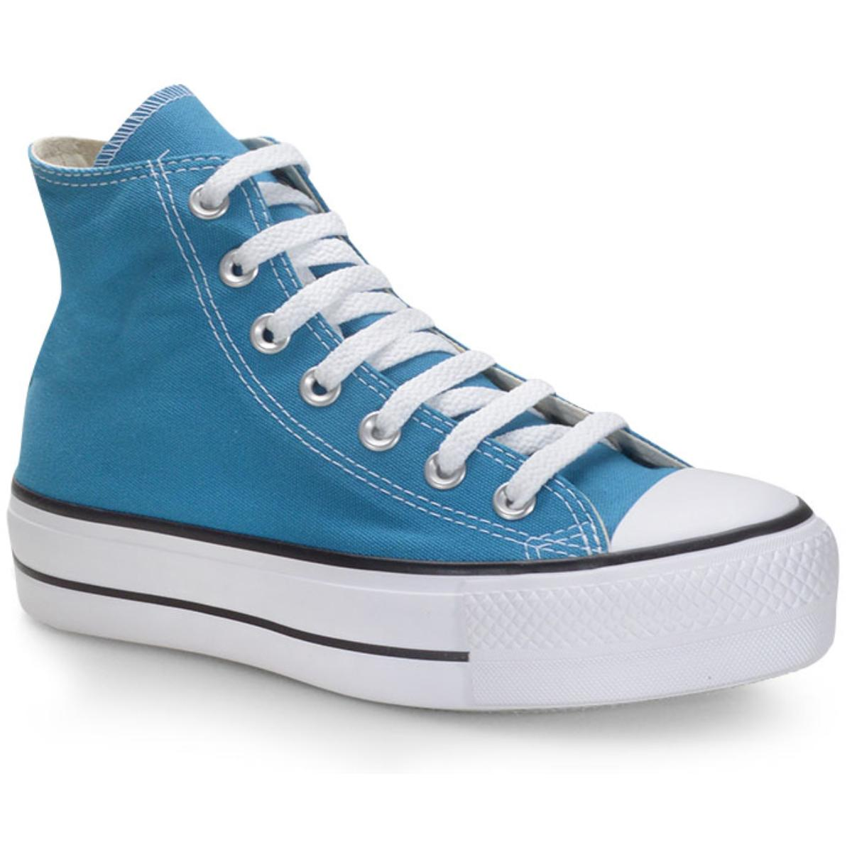 Tênis Unisex All Star Ct012000016 Azul Acido/preto/branco