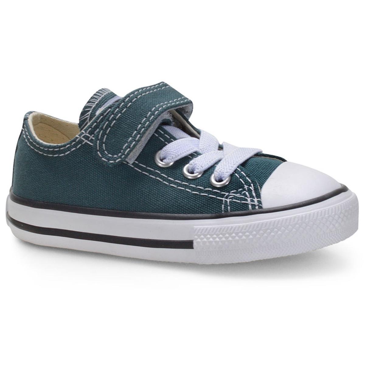 Tênis Masc Infantil All Star Ck08150003 Verde Escuro/preto/branco