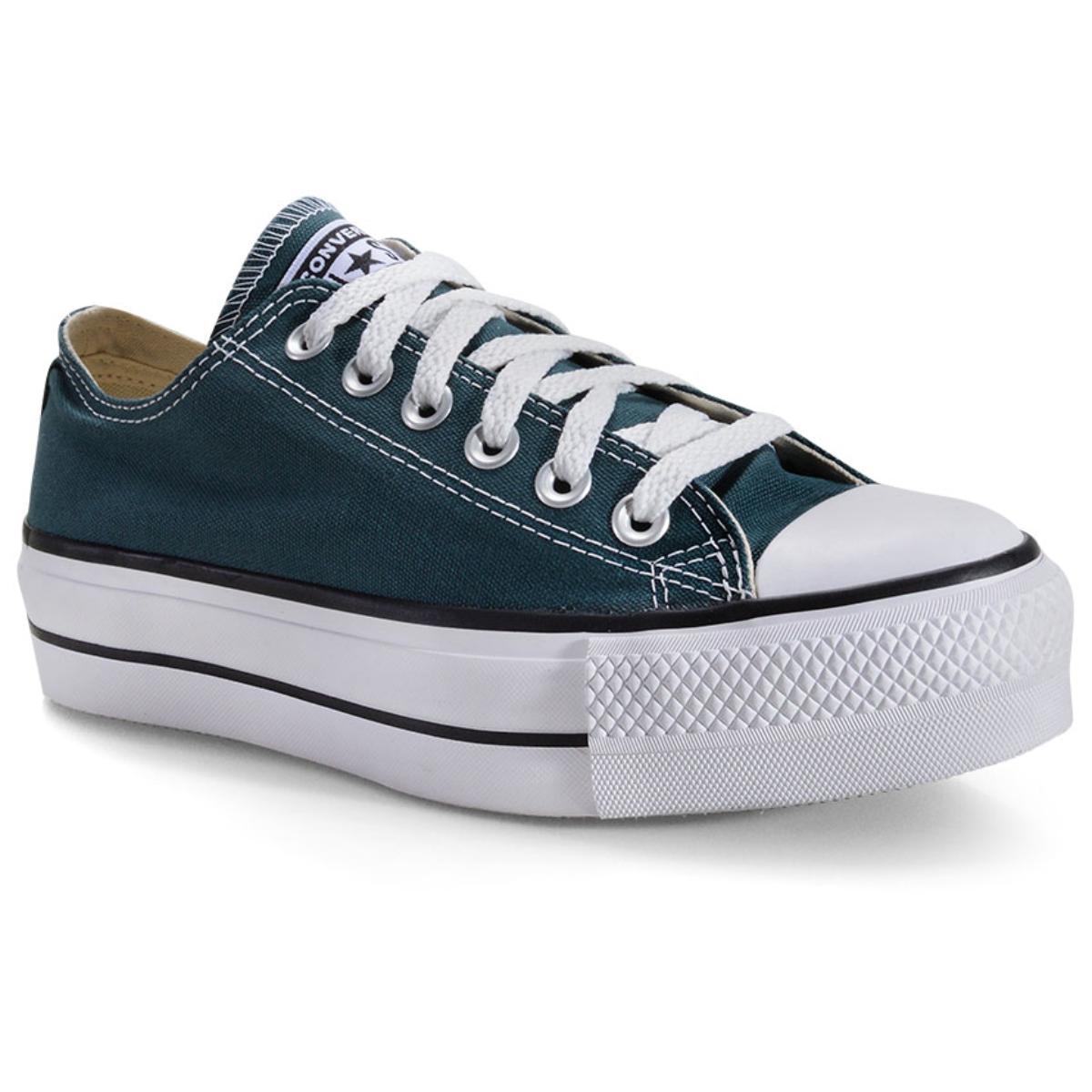 Tênis Feminino All Star Ct09630020 Verde Escuro/preto/branco