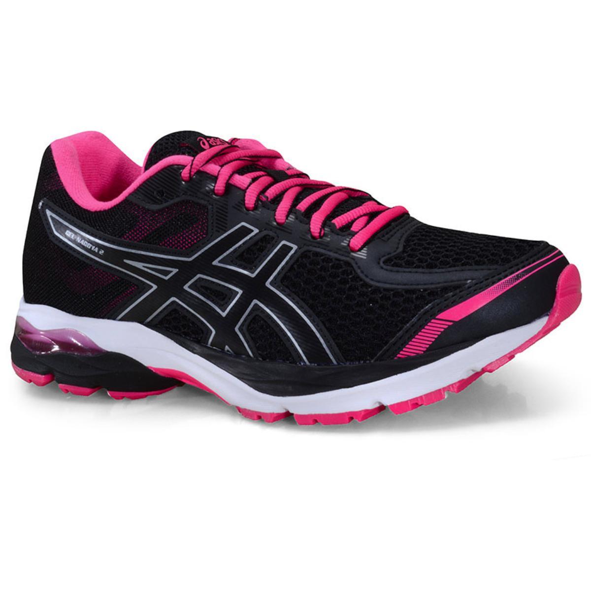 Tênis Feminino Asics 1012a777.003 Gel Nagoya 2 Preto/pink