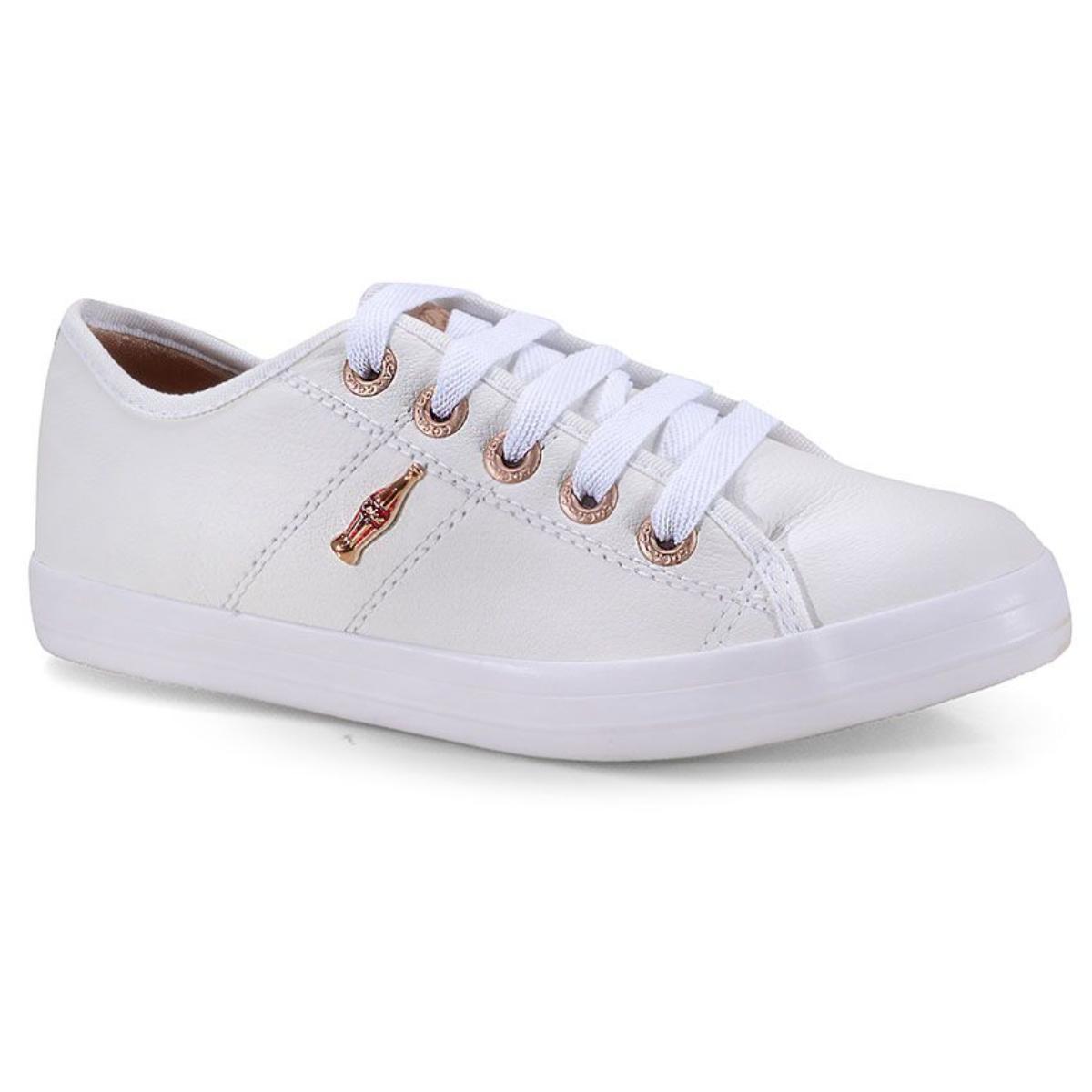 Tênis Feminino Coca-cola Shoes Cc1753 Branco/cobre