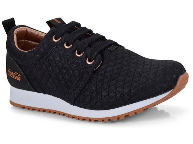 Tênis Feminino Coca-cola Shoes Cc1016 Preto/cobre