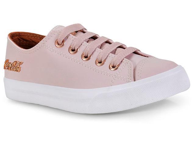 Tênis Feminino Coca-cola Shoes Cc0887 Rosa/cobre