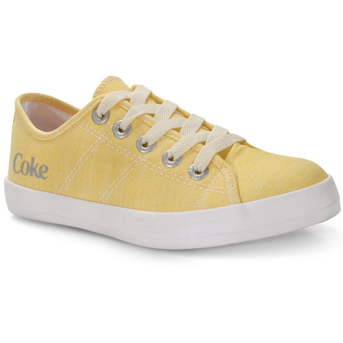 Tênis Feminino Coca-cola Shoes Cc1703 Amarelo