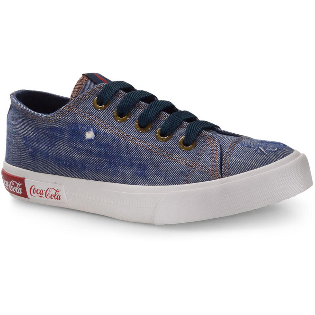 Tênis Feminino Coca-cola Shoes Cc1690 Jeans