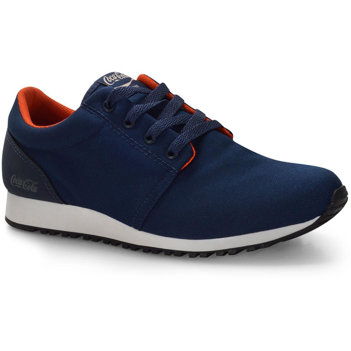 Tênis Masculino Coca-cola Shoes Cc1483 Petróleo/laranja