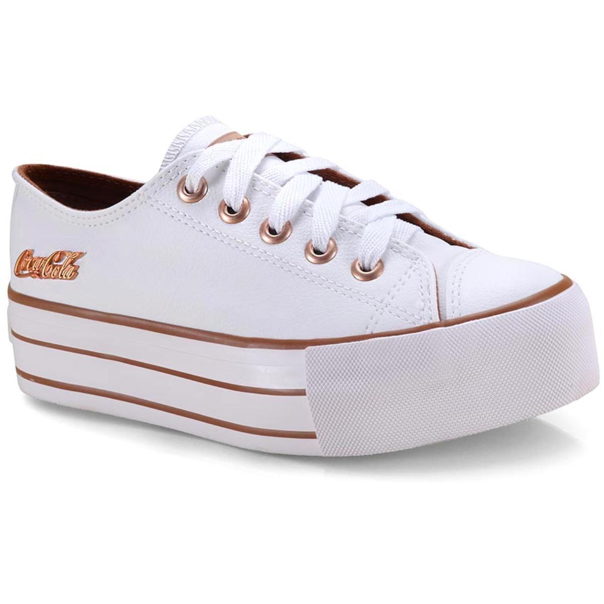 Tênis Feminino Coca-cola Shoes Cc1550 Branco
