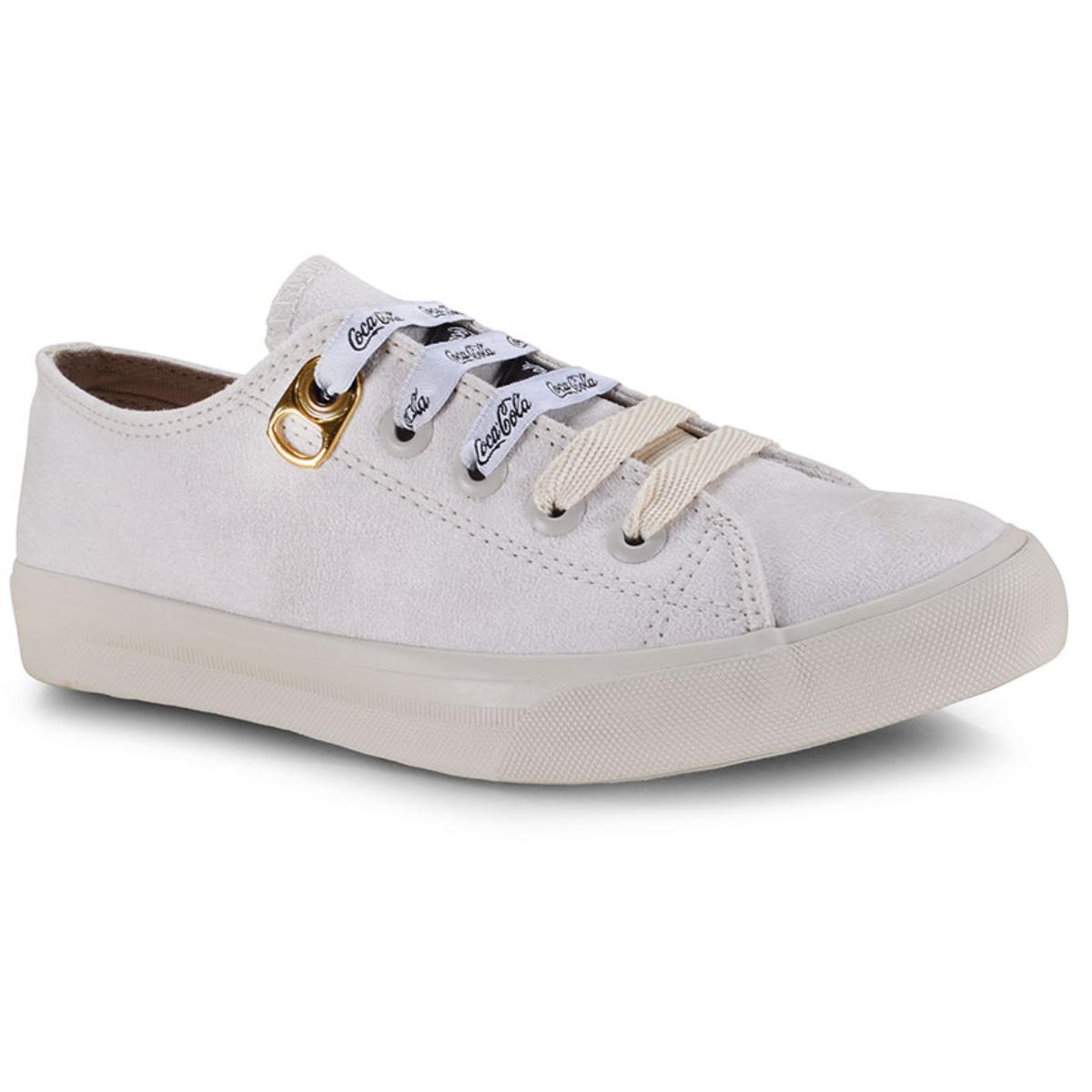 Tênis Feminino Coca-cola Shoes Cc1533 Off White