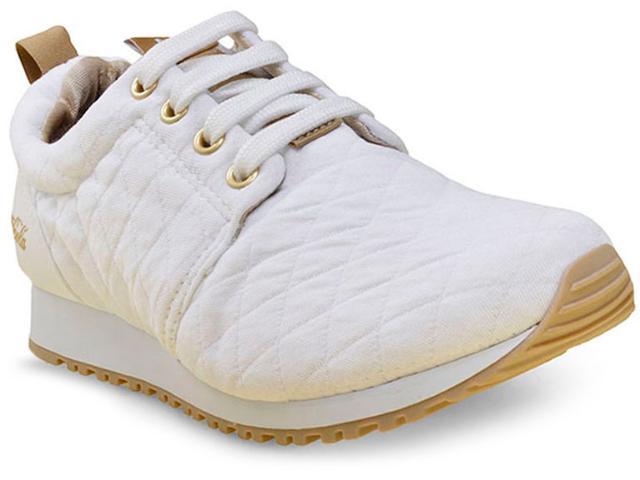Tênis Feminino Coca-cola Shoes Cc1016 Branco/dourado