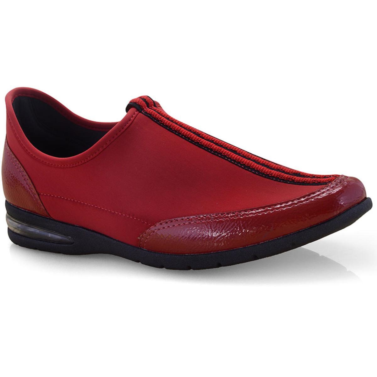 Tênis Feminino Comfortflex 19-58303 Vermelho
