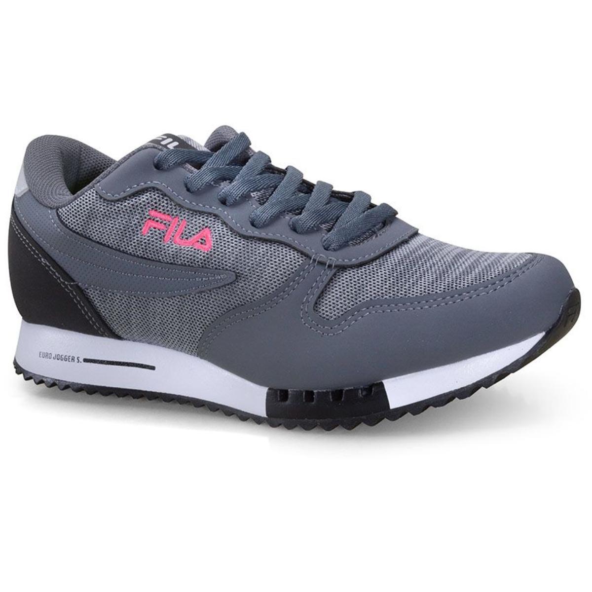 Tênis Feminino Fila 51u335x.3207 Euro Jogger Sport Grafite/prata/rosa