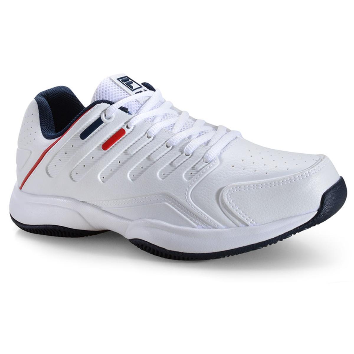 Tênis Masculino Fila 12t054.156 Branco/marinho/vermelho