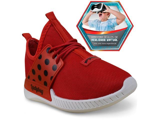 Tênis Fem Infantil Grendene 21744 Ladybug Branco/vermelho