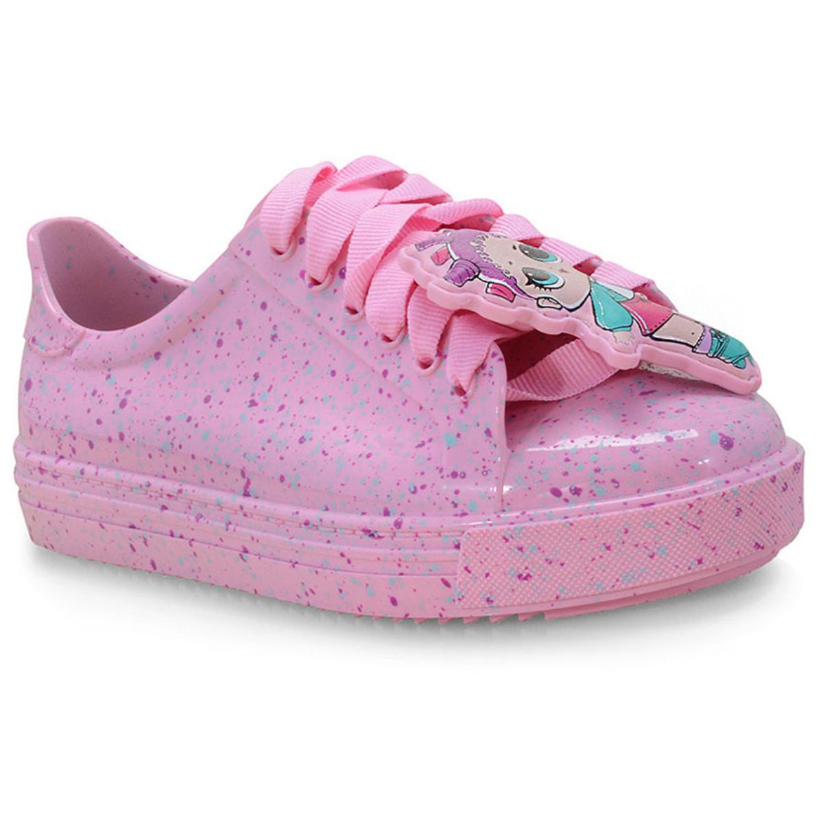 Tênis Fem Infantil Grendene 22125 01358 Lol Colors Rosa Candy