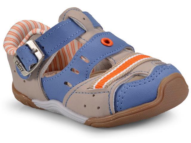 Tênis Masc Infantil Kidy 00804151596 Taupe/azul