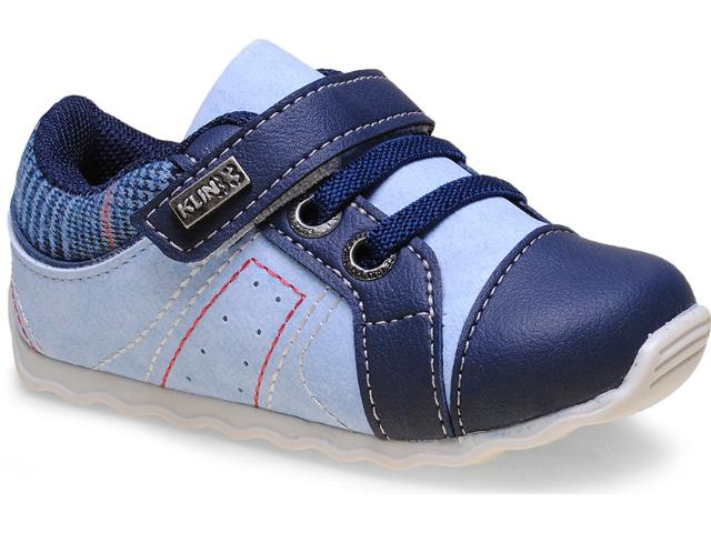 Tênis Masc Infantil Klin 166.016 Jeans/azul
