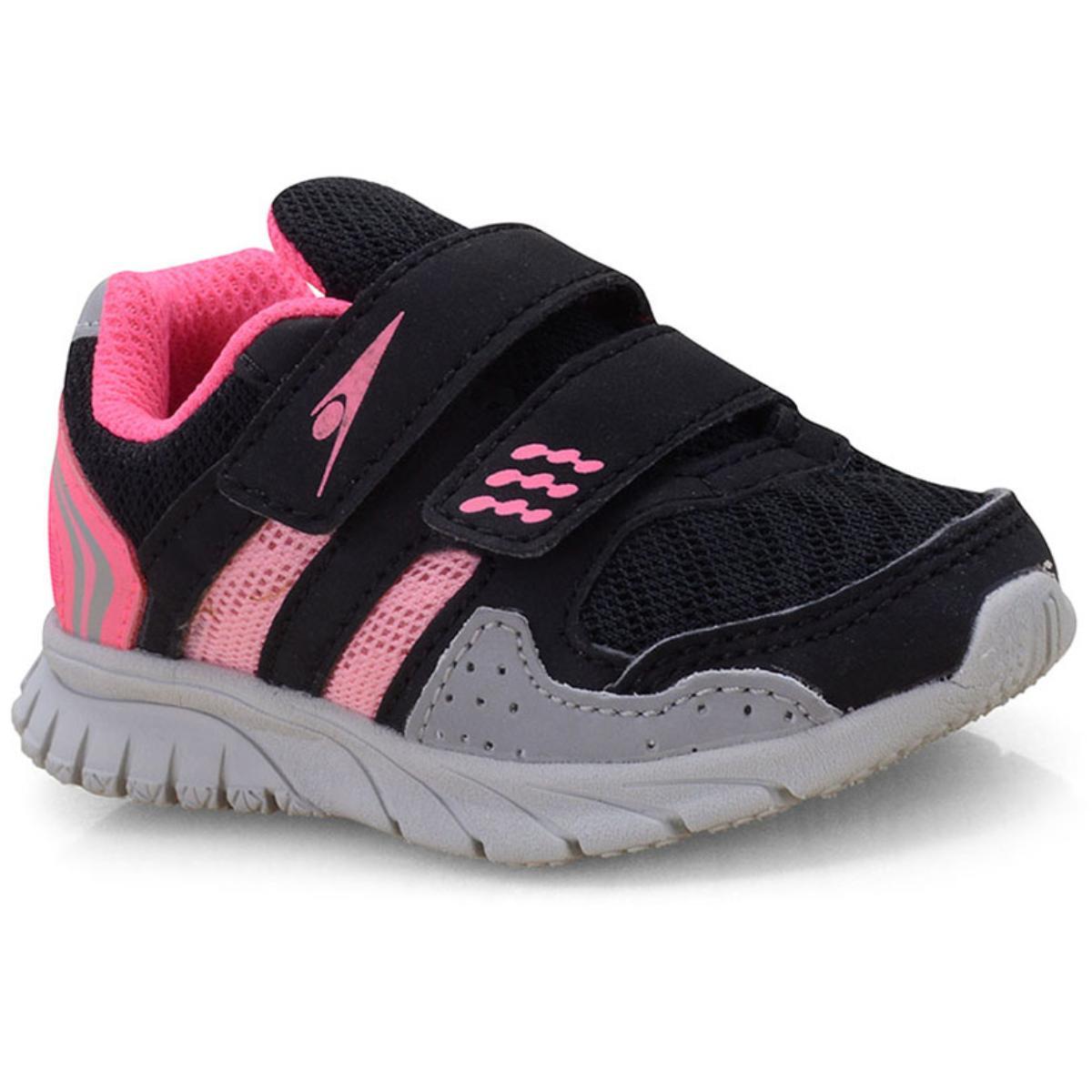 Tênis Fem Infantil Klin 481.052 Preto/pink