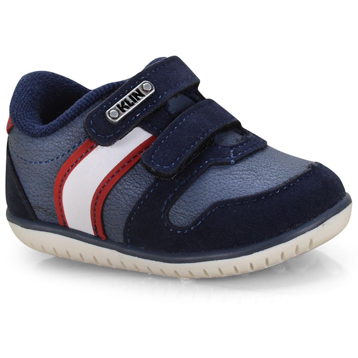 Tênis Masc Infantil Klin 166.111 Jeans/marinho/vermelho