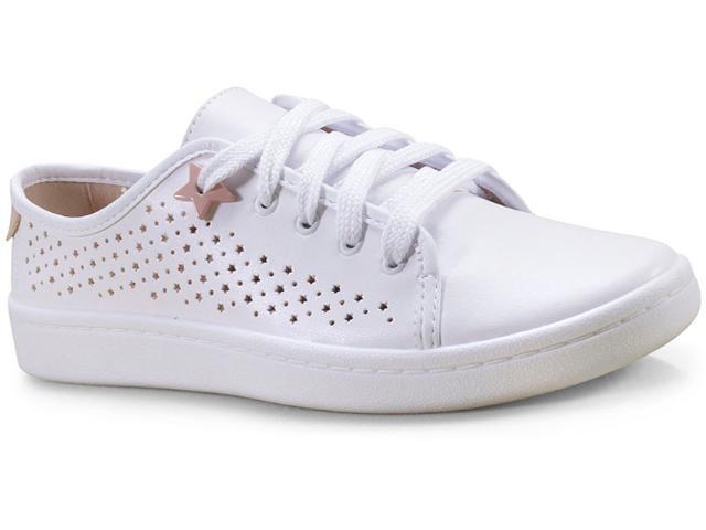 Tênis Feminino Moleca 5657104 Branco/rosa